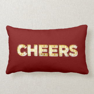 Cheers Cushion in Red