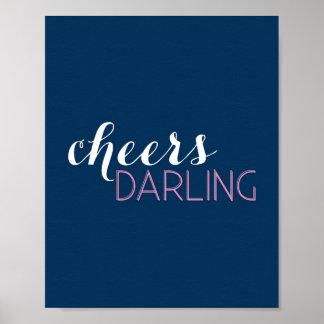 Cheers Darling Bar Cart Art Print