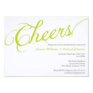 Cheers Dinner Party Custom Invites