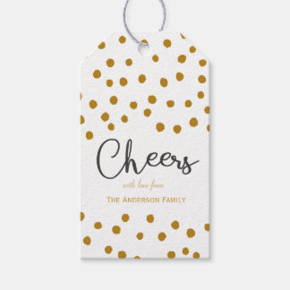 Cheers & dots gift tags