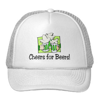Cheers For Beers St Patty Day Mesh Hats