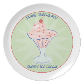 Cheers For Ice Crean Dinner Plate