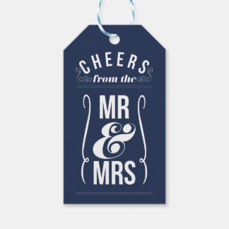 Cheers from the Mr & Mrs Wedding Wine Liquor Favor Gift Tags