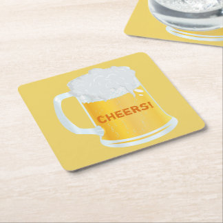Cheers Frothy Pint Stein of Beer Bar Coasters