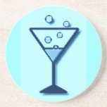 Cheers Glass of Bubbly print Coaster