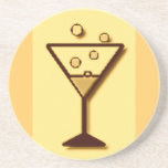 Cheers Glass of Bubbly print Drink Coasters