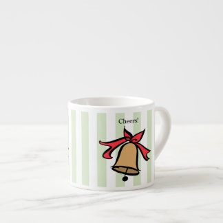 Cheers Gold Bell Espresso Coffee Mug Green
