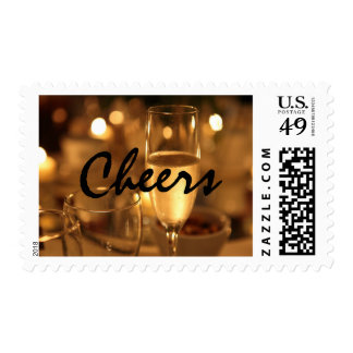 Cheers Gold-Toned Stamp by RoseWrites