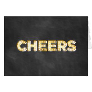 Cheers Greeting Card on Chalkboard