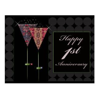Cheers - Happy 1st Anniversary Postcard