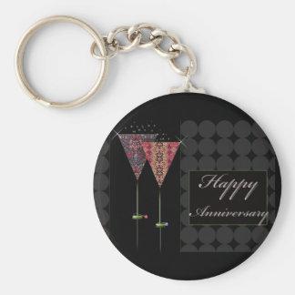 Cheers - Happy Anniversary Basic Round Button Keychain