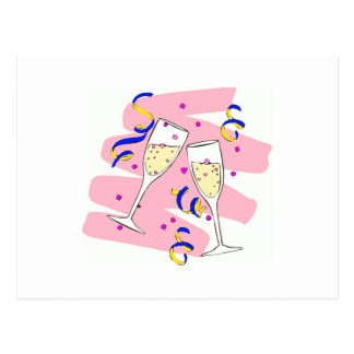 """Cheers""-Happy New Year Design! Postcard"