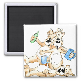 Cheers, Here's to you 2 Inch Square Magnet