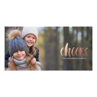 CHEERS Holiday Christmas Photo Card