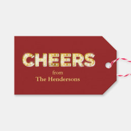 Cheers Holiday Gift Tag