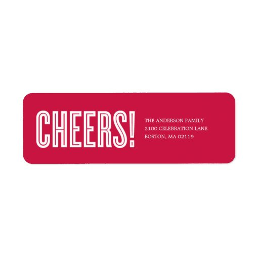 CHEERS!   HOLIDAY GIFT TAGS LABELS