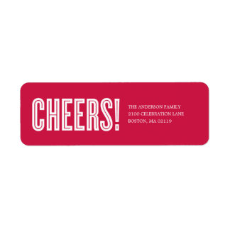 CHEERS! | HOLIDAY GIFT TAGS LABELS