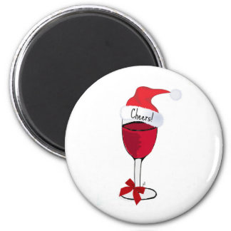 Cheers! HOLIDAY RED WINE PRINT by jill Magnet