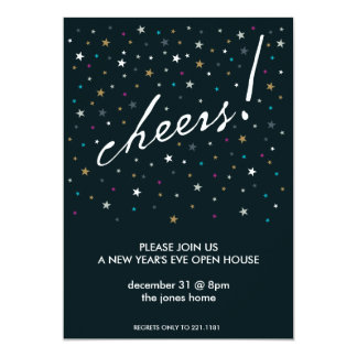 Cheers! 5x7 Paper Invitation Card