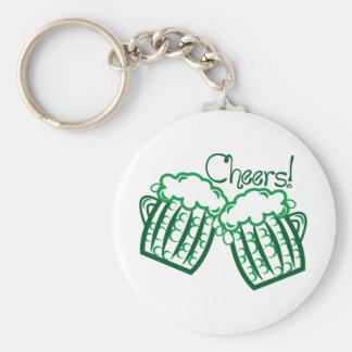 Cheers Basic Round Button Keychain