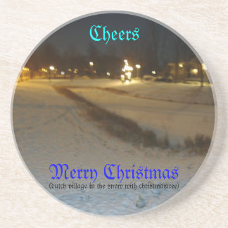 cheers merry christmas coaster
