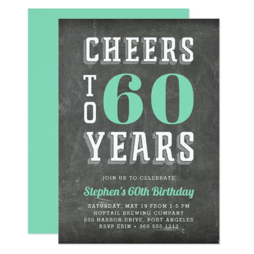 Cheers Milestone Birthday Party Invitation | Green