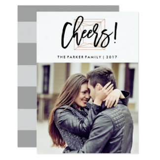 Cheers | Modern Diamond Shape with Photo Card