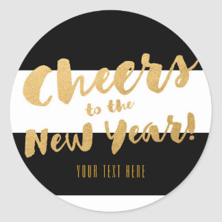 Cheers New Years Eve Party Chic Favor Stickers