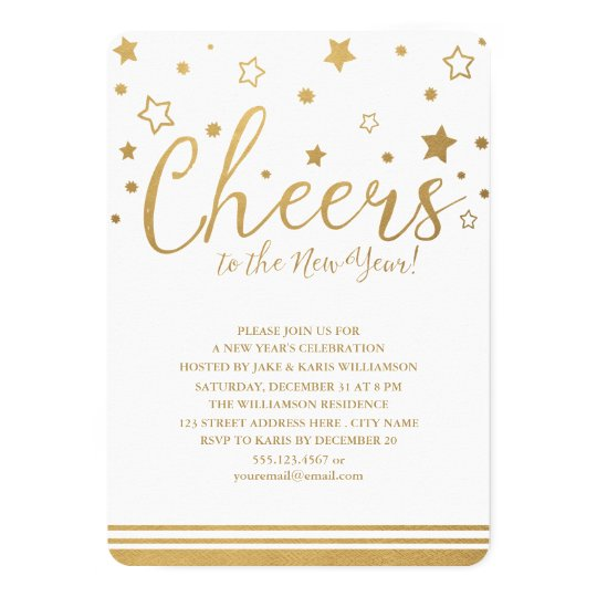 Cheers New Year\'s Eve Party Invitation   Zazzle.com