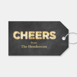 Cheers on Chalkboard Gift Tags