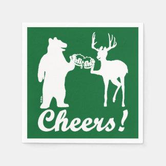 Cheers ! paper napkin