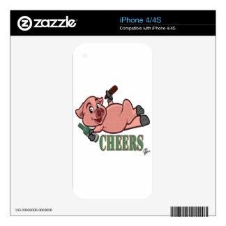 Cheers Pig iPhone 4 Skins