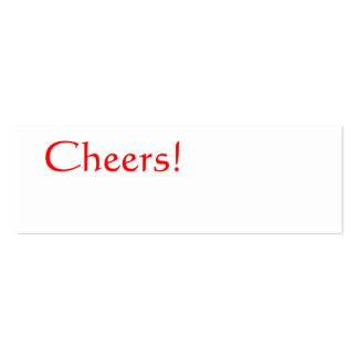 CHEERS Red Simple Plain Celebration Thin Gift Tag Double-Sided Mini Business Cards (Pack Of 20)