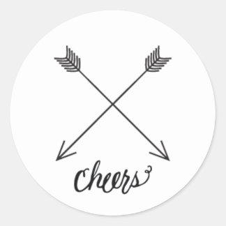 Cheers Round Sticker/Label Classic Round Sticker
