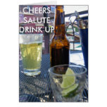 CHEERS, SALUTE, DRINK UP GREETING CARDS