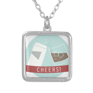 Cheers! Silver Plated Necklace