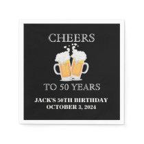 Cheers Surprise 50th Birthday Paper Napkin