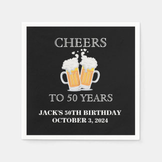 Cheers Surprise 50th Birthday Paper Napkin