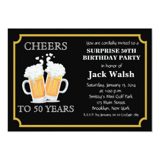 50th Birthday Party Invitations & Announcements | Zazzle