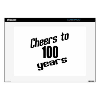 """Cheers to 100 years 15"""" laptop decals"""
