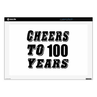 Cheers To 100 Years Birthday Decals For Laptops
