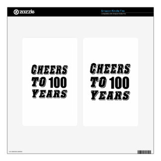 Cheers To 100 Years Birthday Kindle Fire Decal