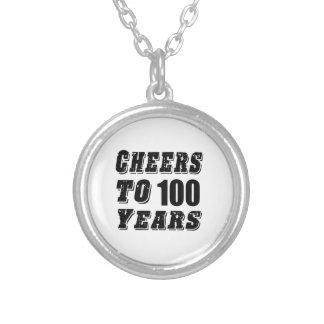 Cheers To 100 Years Birthday Round Pendant Necklace