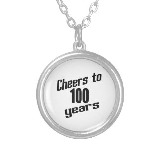 Cheers to 100 years round pendant necklace