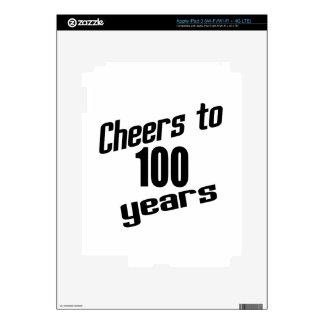 Cheers to 100 years skin for iPad 3