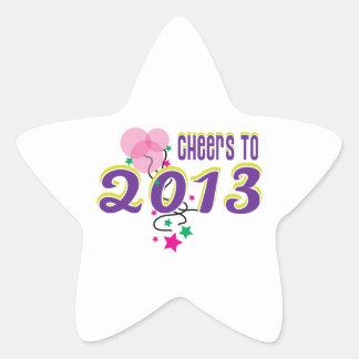 Cheers to 2013 star sticker