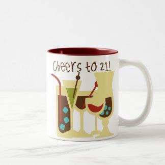 Cheers to 21 Birthday Two-Tone Coffee Mug