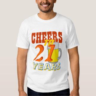 Cheers To 21 Years Beer Birthday Shirts