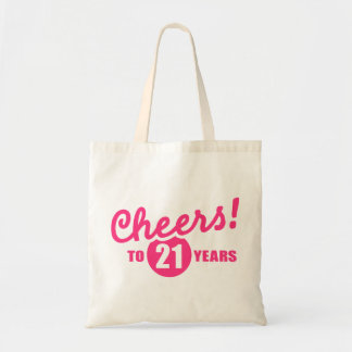 Cheers to 21 years birthday canvas bag