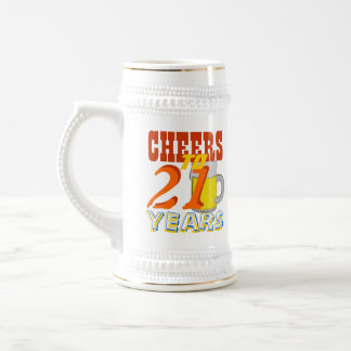 Cheers To 21 Years Birthday Beer Stein